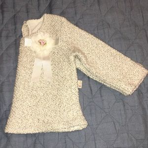 Other - 2T sweater with pink rosette bow